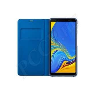 Samsung Galaxy A7 (2018) kék gyári flip tok