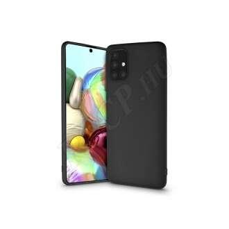 Samsung Galaxy A71 fekete szilikon hátlap