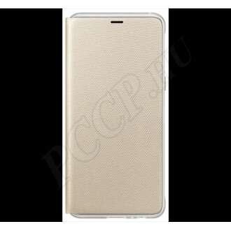 Samsung Galaxy A8 (2018) arany gyári oldalra nyíló flip tok