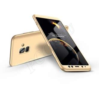 Samsung Galaxy A8 (2018) arany három részből álló védőtok