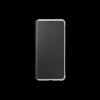 Samsung Galaxy A8 (A530) fekete neon flip cover tok