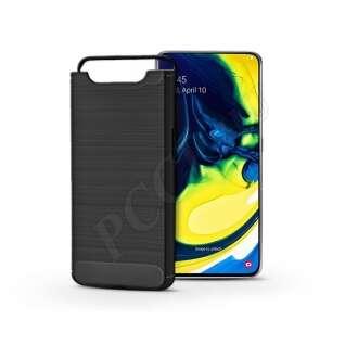 Samsung Galaxy A80 fekete szilikon hátlap