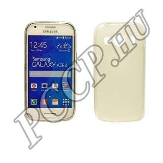 Samsung Galaxy Ace 4 átlátszó vékony szilikon hátlap