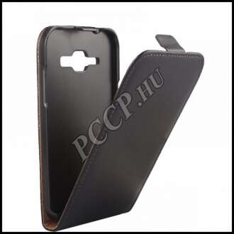 Samsung Galaxy J1 fekete flip bőr tok