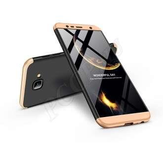 Samsung Galaxy J4 Plus fekete/arany három részből álló védőtok
