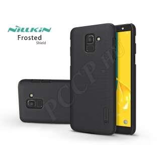 Samsung Galaxy J6 (2018) fekete hátlap kijelzővédő fóliával