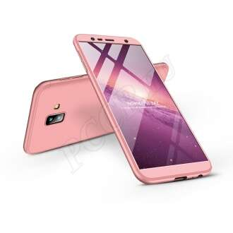 Samsung Galaxy J6 Plus (2018) rosegold három részből álló védőtok