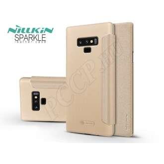 Samsung Galaxy Note 9 arany oldalra nyíló flip tok