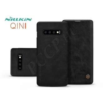 Samsung Galaxy S10 Plus fekete oldalra nyíló flip tok