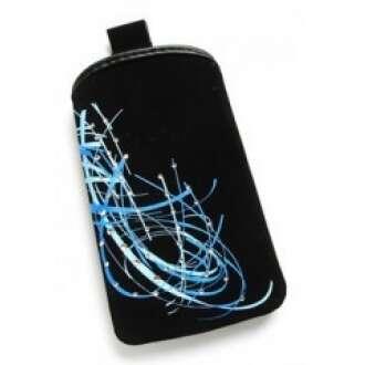Samsung Galaxy S3 fekete belebújós textil tok