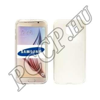 Samsung Galaxy S6 Edge+ átlátszó vékony szilikon hátlap