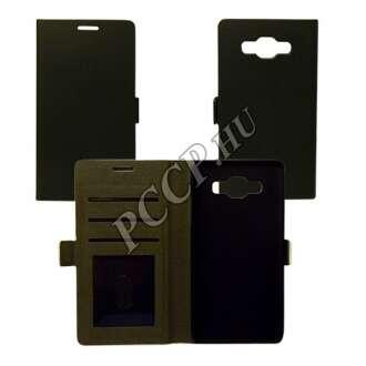 Samsung Galaxy S7 fekete flip oldalra nyíló tok