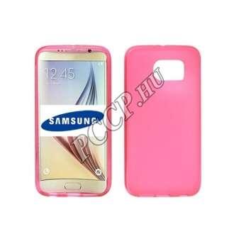 Samsung Galaxy S7 pink vékony szilikon hátlap