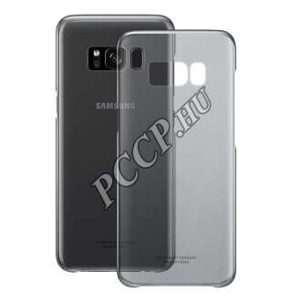 Samsung Galaxy S8 fekete Clear cover tok