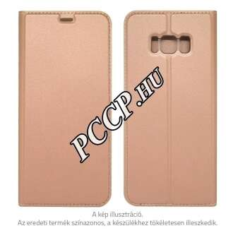 Samsung Galaxy S8 rosegold flip oldalra nyiló tok