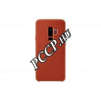 Samsung Galaxy S9 piros bőr hátlap