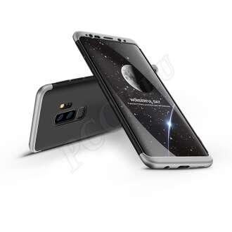 Samsung Galaxy S9 Plus fekete/ezüst három részből álló védőtok