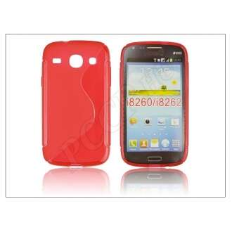 Samsung Galaxy Core piros szilikon hátlap