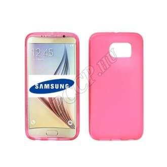 Samsung Galaxy J1 (2016) pink vékony szilikon hátlap