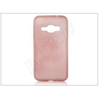 Samsung Galaxy J1 (2016) pink szilikon hátlap