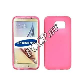Samsung Galaxy J5 (2016) pink vékony szilikon hátlap