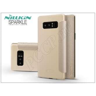 Samsung Galaxy Note 8 arany oldalra nyíló flip tok