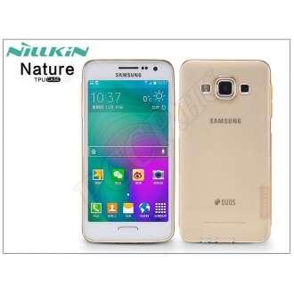 Samsung Galaxy A3 aranybarna szilikon hátlap
