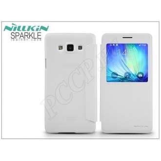 Samsung Galaxy A7 fehér oldalra nyíló flip tok