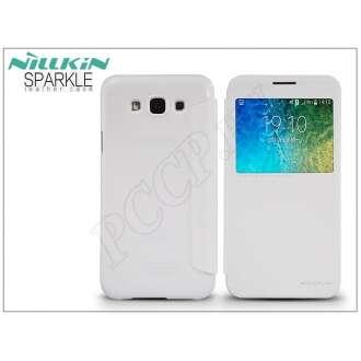 Samsung Galaxy E5 fehér oldalra nyíló flip tok