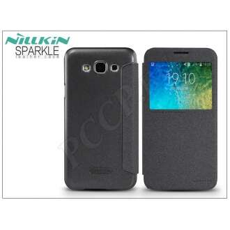 Samsung Galaxy E5 fekete oldalra nyíló flip tok