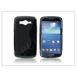 Samsung Galaxy Core fekete szilikon hátlap