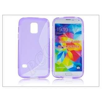 Samsung Galaxy S5 Mini lila szilikon hátlap