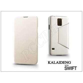 Samsung Galaxy S5 fehér flip oldalra nyíló tok