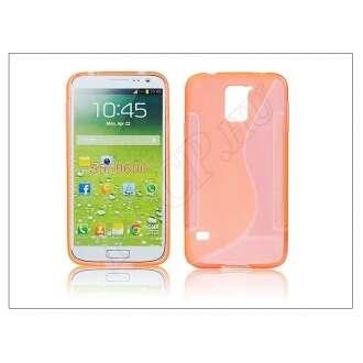 Samsung Galaxy S5 narancs szilikon hátlap