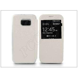 Samsung Galaxy S6 fehér oldalra nyíló flip tok