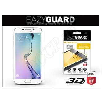 Samsung Galaxy S6 Edge gyémántüveg képernyővédő fólia fehér színben