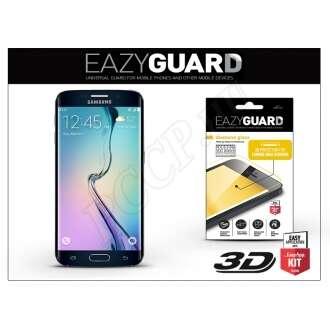 Samsung Galaxy S6 Edge gyémántüveg kijelzővédő fólia fekete színben