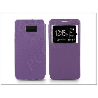 Samsung Galaxy S6 Edge+ lila oldalra nyíló flip tok