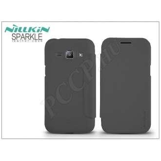 Samsung Galaxy J1 fekete oldalra nyíló flip tok