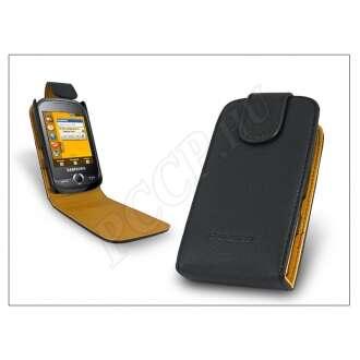 Samsung Corby fekete bőr flip tok