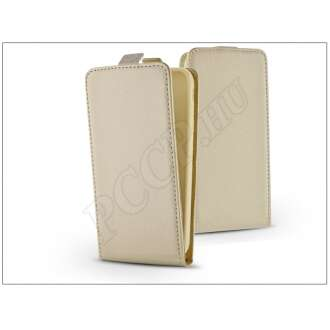 Apple Iphone 5S arany bőr flip tok