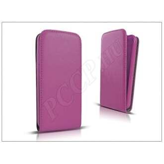 Apple Iphone 7 lila bőr flip tok