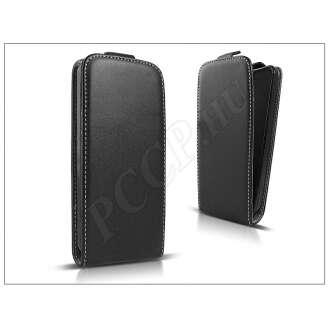 HTC One (M9) fekete bőr flip tok