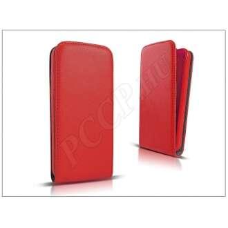 Samsung Galaxy Ace 4 piros bőr flip tok