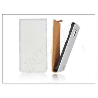 Apple Iphone 6 fehér bőr flip tok