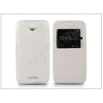Sony Xperia E4 (E2104/E2105) fehér oldalra nyíló flip tok