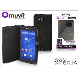 Sony Xperia E4G (E2003) fekete flip tok