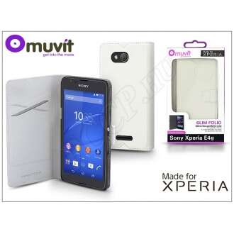 Sony Xperia E4G (E2003) fehér flip tok