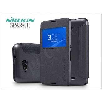 Sony Xperia E4G (E2003) fekete oldalra nyíló flip tok