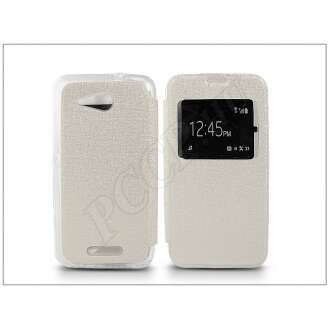 Sony Xperia E4G (E2003) fehér oldalra nyíló flip tok
